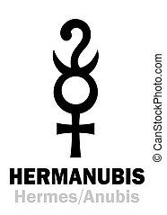 hermanubis, astrology:, (hermes+anubis)