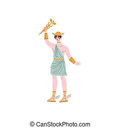 Hermes Olympian Greek God, Ancient Greece Mythology Hero...