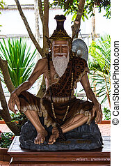 Hermit statue in Thai Temple