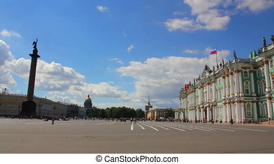 Hermitage and Palace Square in St. Petersburg
