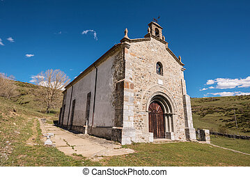 Hermitage in Palencia mountains, Castilla y Leon, Spain.