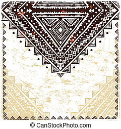 hermoso, étnico, ornamento