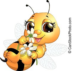 hermoso, abeja