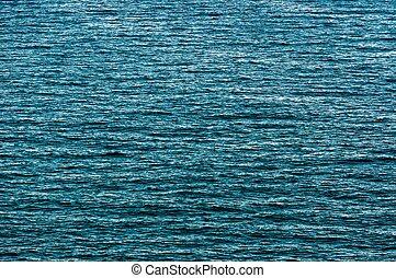hermoso, agua azul, superficie, como, un, plano de fondo,...