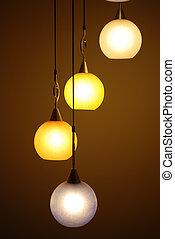 hermoso, araña de luces, fondos