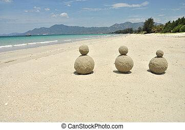 hermoso, arena, vietn, playa, blanco