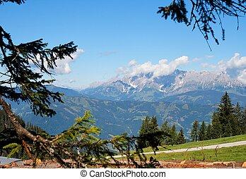 hermoso, austria, paisaje, alpino