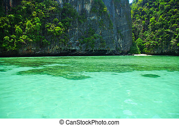 hermoso, azul, mar, de, sur, tailandia, asia