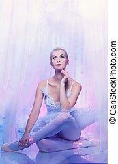hermoso, bailarín de ballet clásico