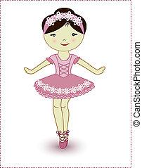 hermoso, bailarina, niña, encantador