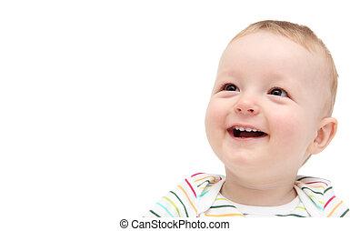 hermoso, bebé sonriente