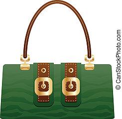 hermoso, bolso, bolsa