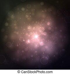 hermoso, brightness., luces, muchos, resumen, confuso, fondo., brillante, vector, plano de fondo