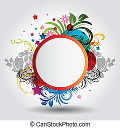 hermoso, círculo, plano de fondo