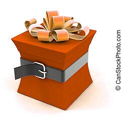 hermoso, caja, dieta, regalo