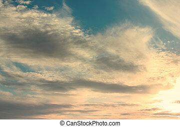 hermoso, cielo azul