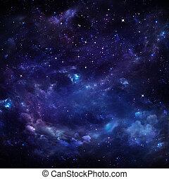 hermoso, cielo estrellado