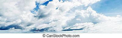 hermoso, cielo nublado