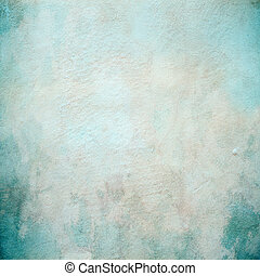 hermoso, concreto, turquesa, pared, textura