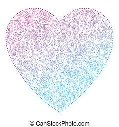 hermoso, corazón, día, valentino