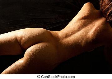 Hermoso cuerpo de mujer desnuda