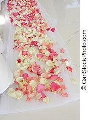 hermoso, día boda, flowers.