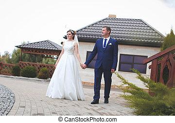 hermoso, día boda