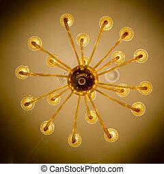 hermoso, decoración, iluminación