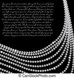 hermoso, diamante, resumen, ilustración, vector, fondo negro