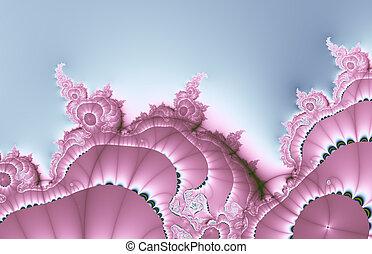 hermoso, diseño fractal