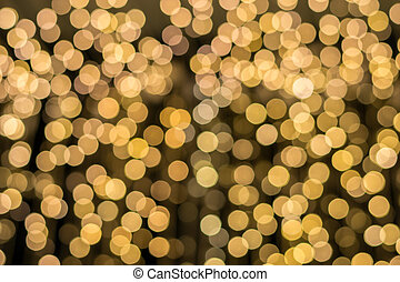 hermoso, dorado, luces, concepto, Plano de fondo, navidad
