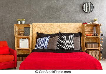 hermoso, dormitorio, garantía, de, un, bueno, sueño
