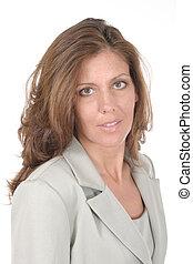 hermoso, ejecutivo, mujer de negocios, 1