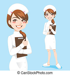 hermoso, enfermera