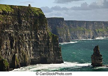 hermoso, escénico, costa, irlanda, oeste, paisaje