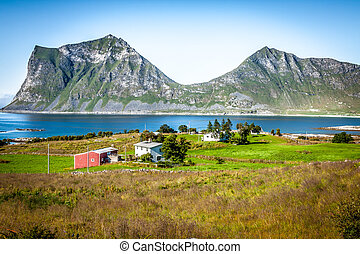 hermoso, escandinavia, noruega, paisaje