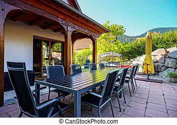 hermoso, estilo, guesthouse, decoration., alsacia, france., ...