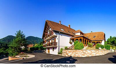 hermoso, estilo, guesthouse, decoration., alsacia, france.,...