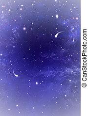 hermoso, estrellado, plano de fondo, cielo