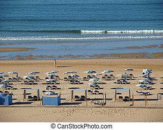 hermoso, europa, portugal, -, uno, praia, más, algarve, ...