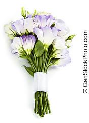 hermoso, eustoma, flores, ramo