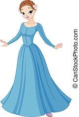 hermoso, fairytale, princesa