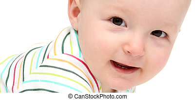 hermoso, feliz, bebé