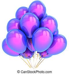hermoso, fiesta, globos, (hi-res)