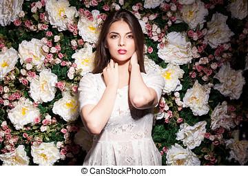 hermoso, flor, foto, estudio, Plano de fondo, magnífico, modelo