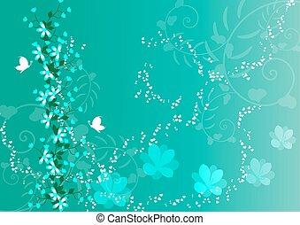 hermoso, floral, plano de fondo