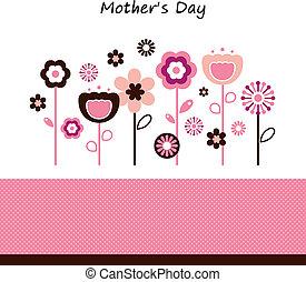 hermoso, flores, día, celebración, madre