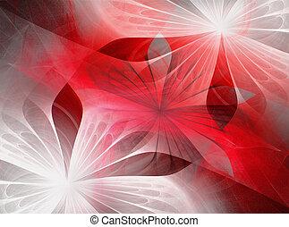 hermoso, flores, fractal
