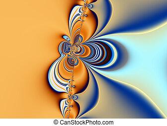 hermoso, fractal, arte abstracto