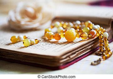 hermoso, hechaa mano, joyas